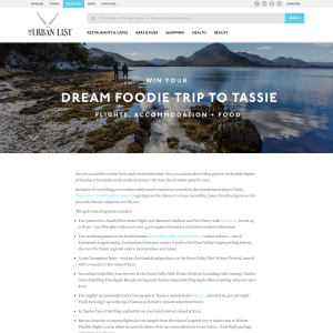Win your dream foodie trip to Tassie!