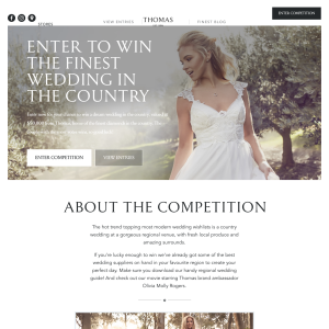 Win your Dream Wedding plus runner up prizes